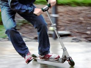 Adult on Razor Scooter