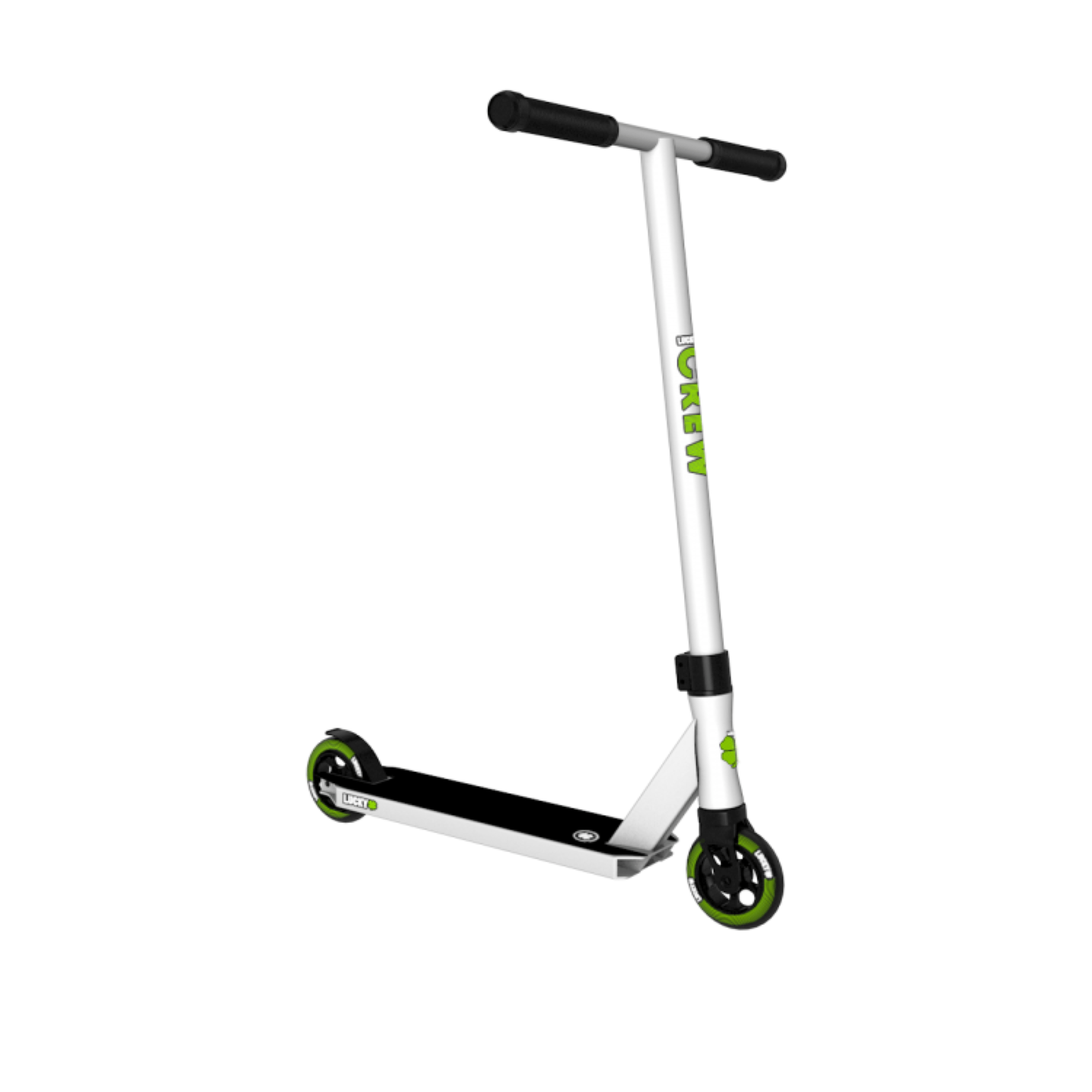 lucky crew pro stunt scooter white. Black Bedroom Furniture Sets. Home Design Ideas