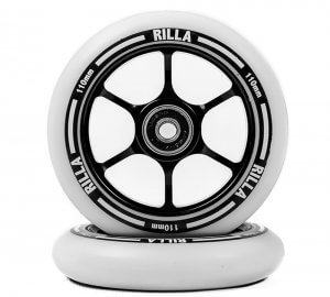 Black metal core wheels