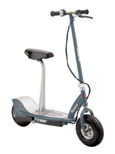 Razor electric seated scooter in grey color