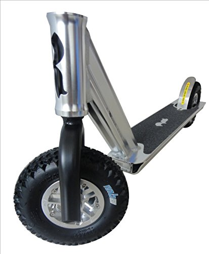 wheels of a dirt scooter