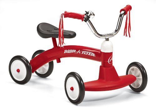 Radio flyer scoot toy for assisted stability