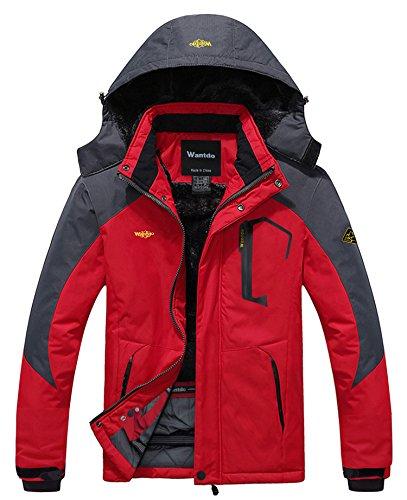 Red Wantdo Waterproof Snowboarding Jacket