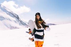 Warm snowboarding jackets