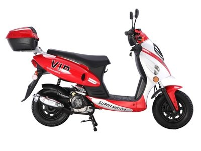 Red TaoTao CY50-A Gas Powered Scooter
