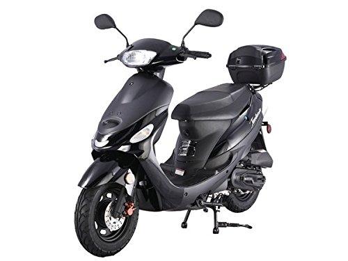Black TaoTao ATM50-A1 50cc Scooter