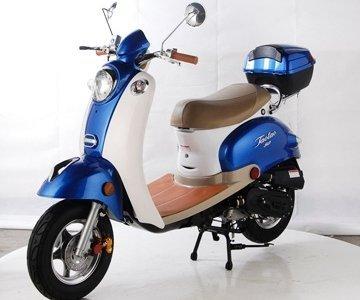 Blue TaoTao CY50-B 49cc Automatic Moped