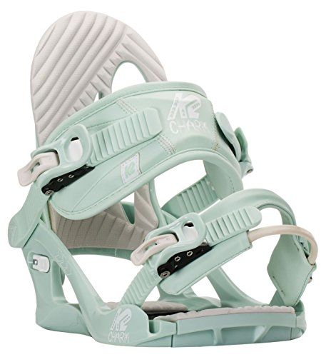 mint green K2 Charm womens snowboard bindings