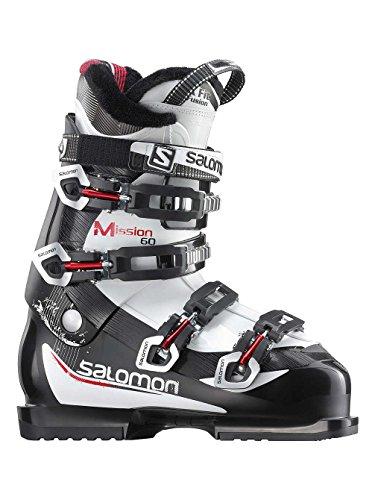 Black and White Salomon Mission 60 Ski Boots
