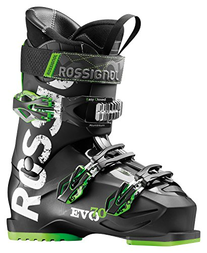 Black and Green Rossignol Evo 70 Skiing Boot