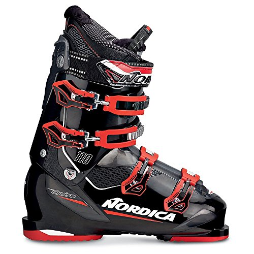 Black and Red Nordica Cruise 110 Ski Boot