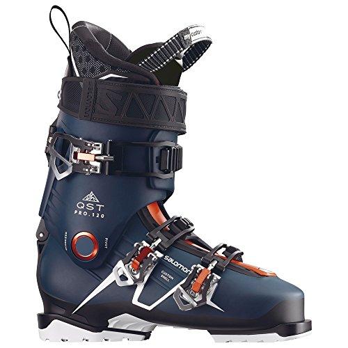 Blue and Black Salomon QST Pro 120 Ski Boots
