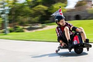 Speed of crazy cart