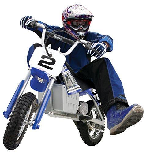 Boy riding Razor MX350 dirt rocket bike