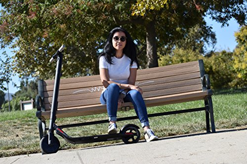 lady with segway es1 escooter