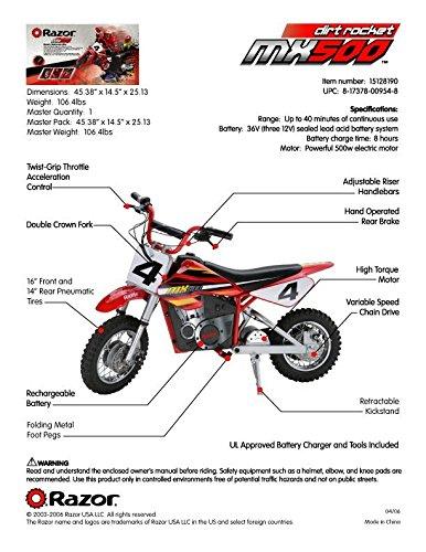 Razor MX500 design