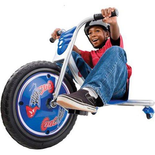 Boy riding Razor Rip Rider Caster Trike