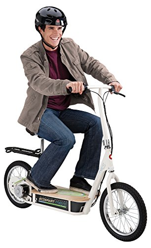 Man riding razor ecosmart electric scooter