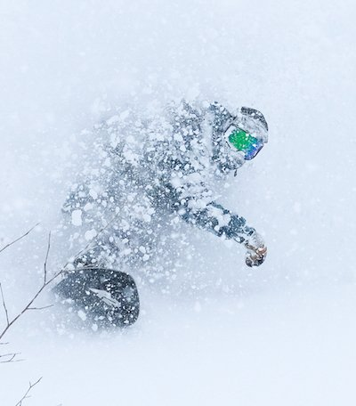 snowboarder in the snow