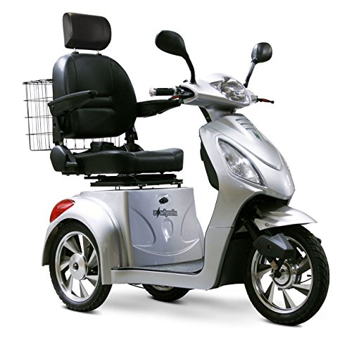 e-wheels 3 wheel mobility scooter in silver