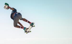 man doing skateboarding tricks
