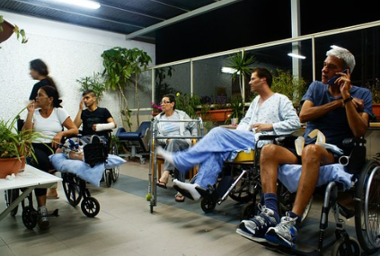 people injured and sitting on wheelchairs