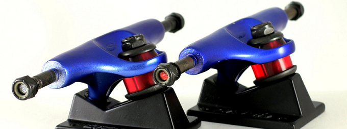 skateboard hardware in blue color