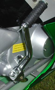 motorcycle chrome kick starter