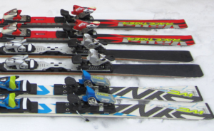 skis with different shapes