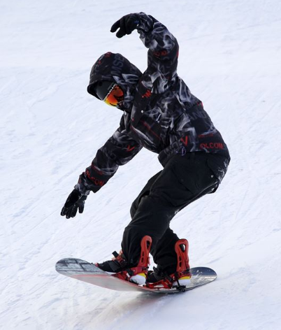 snowboarder getting out of balance