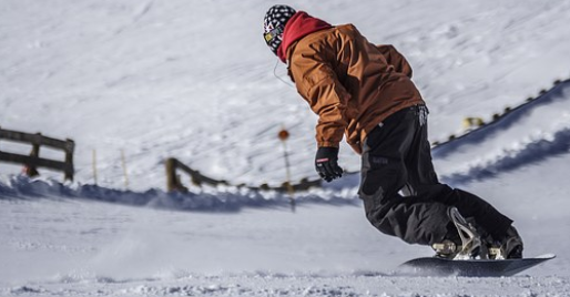turning with a snowboard