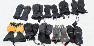 Different kinds of snowboarding gloves