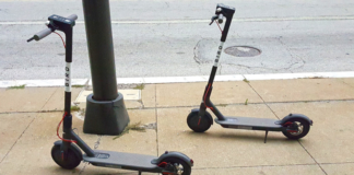 Two kick scooters