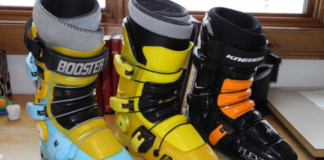 different colors of ski boots