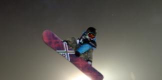 snowboarder air stunt
