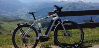 Electric bike top hill