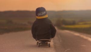 Skateboarding size for kids