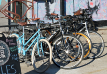 Bicycles display