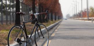Bike along the road