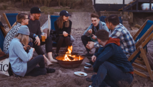 Group of people camping