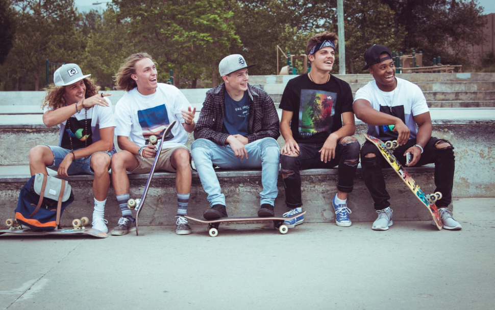 Group of skaters