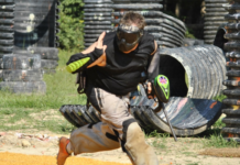 Man playing Paintball