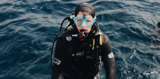 Man with Scuba outfit