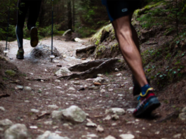 Two Person trail running