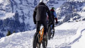 Two men Biking