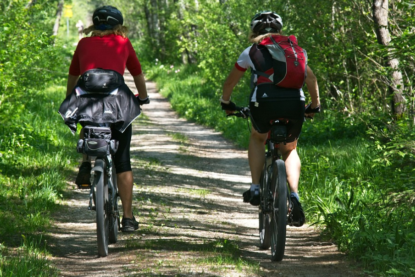 Two person biking