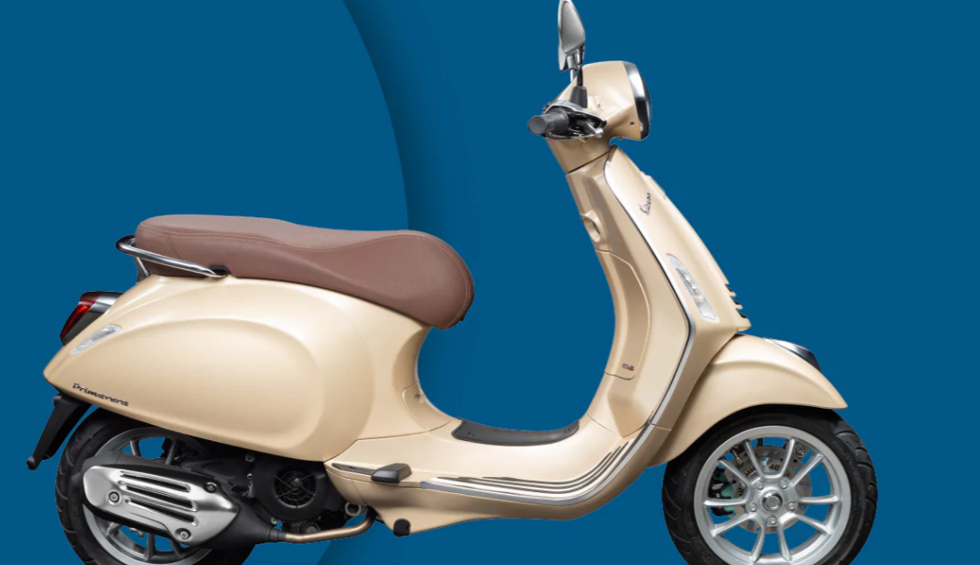 Light Color Vespa Scooter