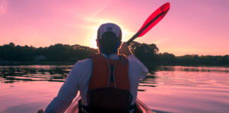 Man Kayaking