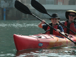Two person on a Kayak