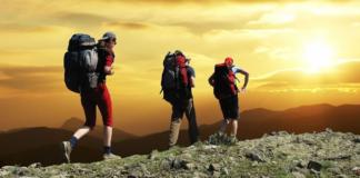 Three Person Hiking
